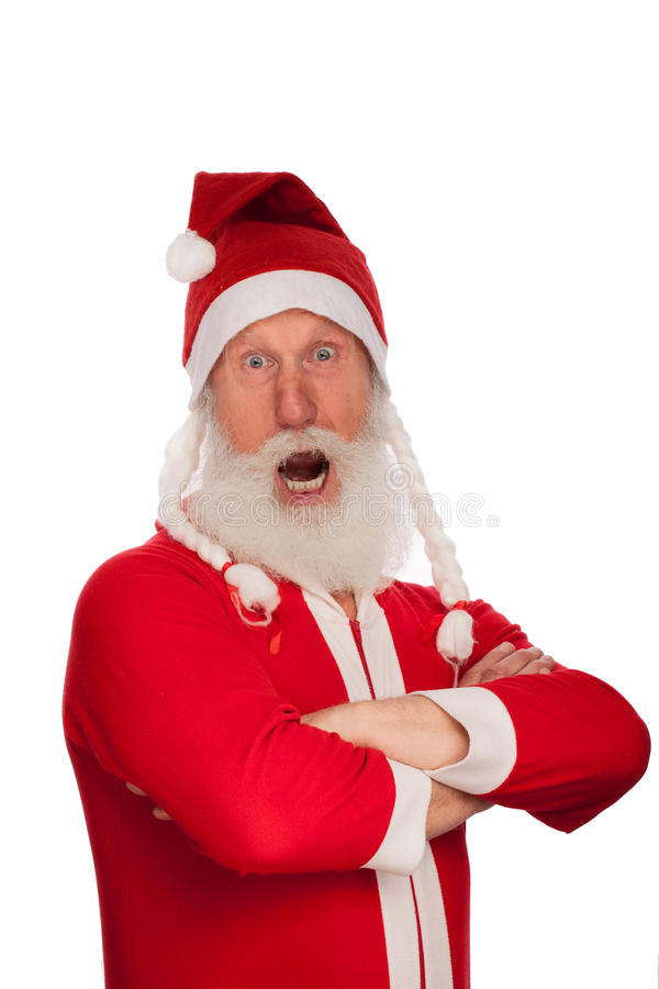 Portrait von Weihnachtsmann stockbild