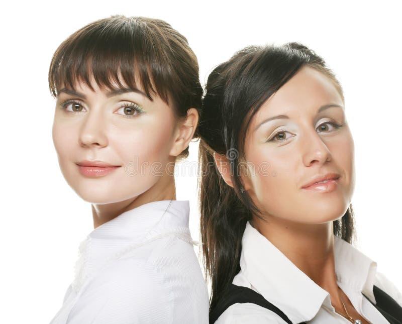 Portrait von zwei Geschäftsfrauen stockfotografie