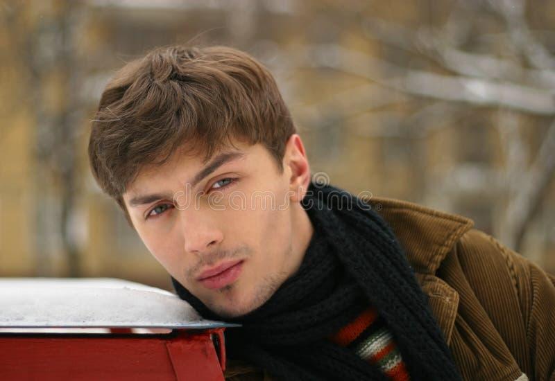 Portrait in the winter stock photo
