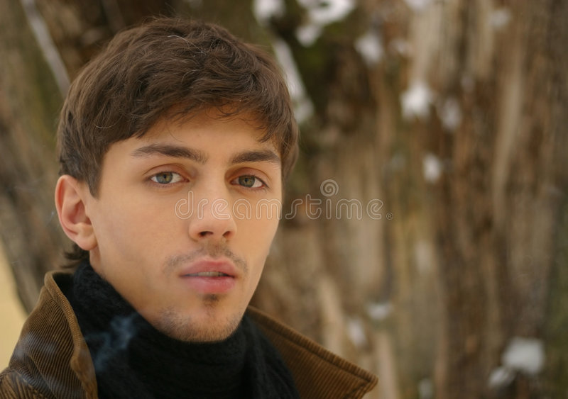 Portrait in the winter royalty free stock photo