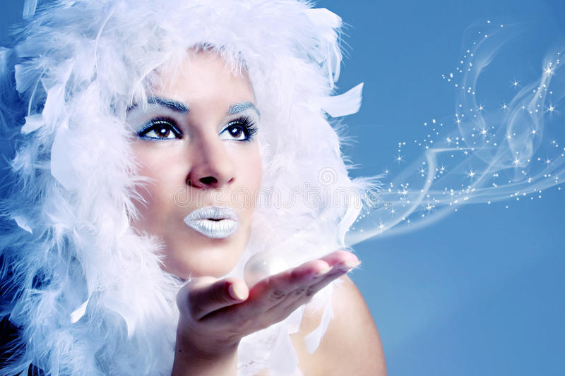 Portrait of winter queen royalty free stock images