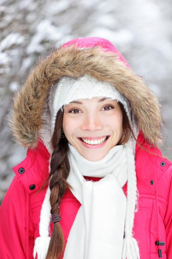 Portrait Of Winter Woman Stock Image