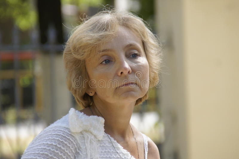 Portrait of a Woman. Portrait of a mature woman royalty free stock image