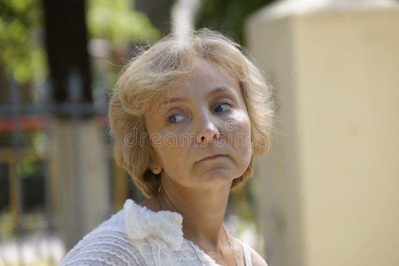 Portrait of a Woman. Portrait of a mature woman stock photos