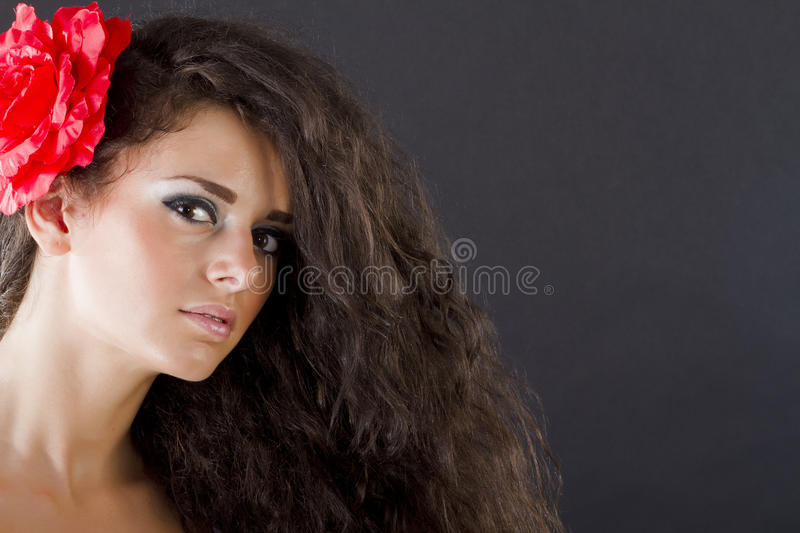 Download Portrait of a woman stock photo. Image of brunette, look - 20913406