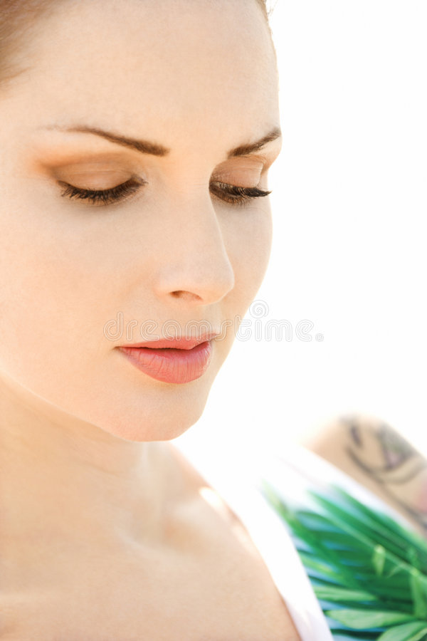 Portrait of woman. royalty free stock images