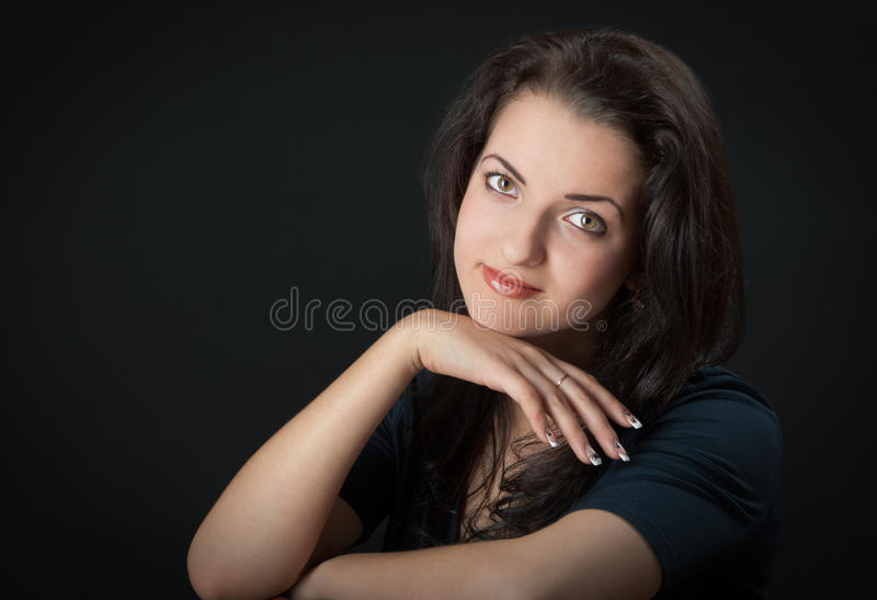 Portrait of a woman stock photography