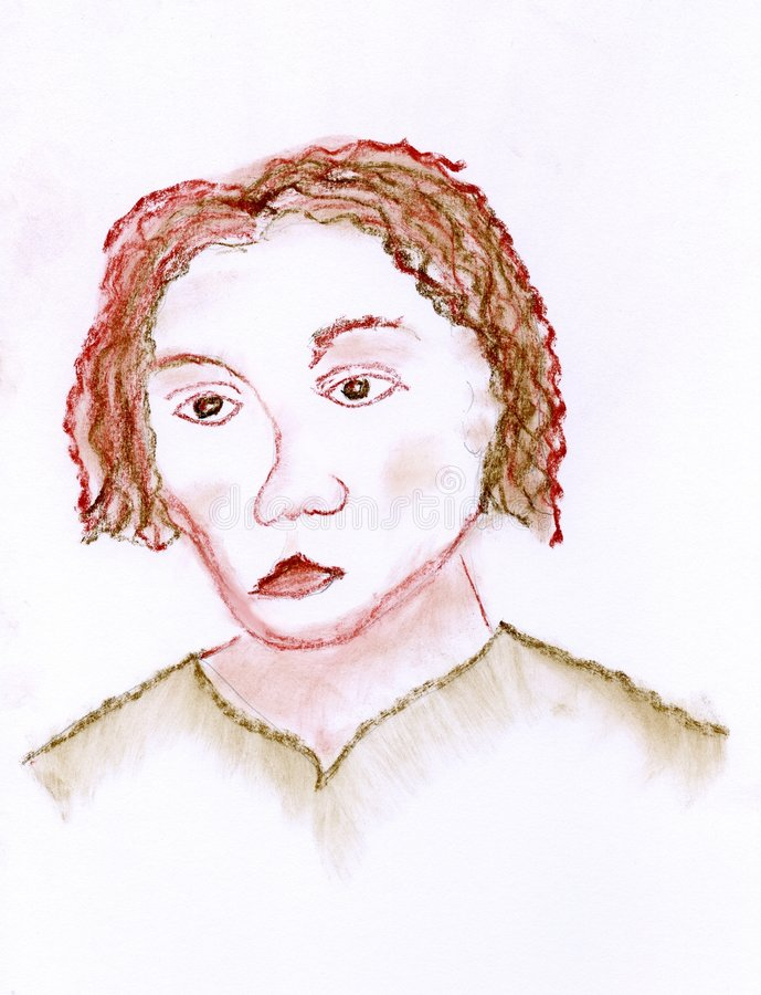 Portrait of a woman stock illustration