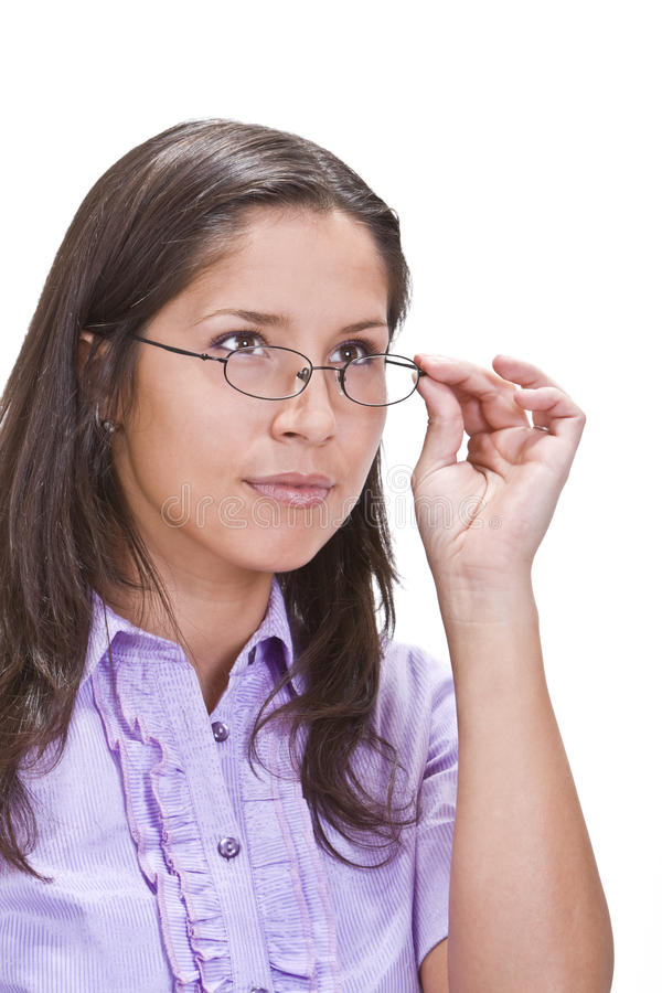Download Portrait of a woman stock image. Image of glasses, happy - 9817919