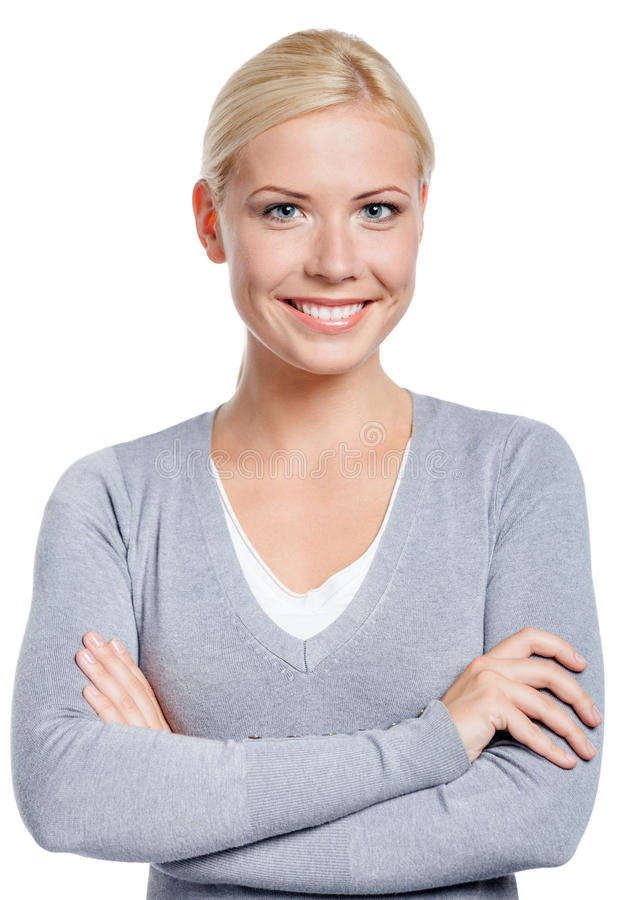 Download Portrait Of Woman With Arms Crossed Stock Photo - Image: 29695344