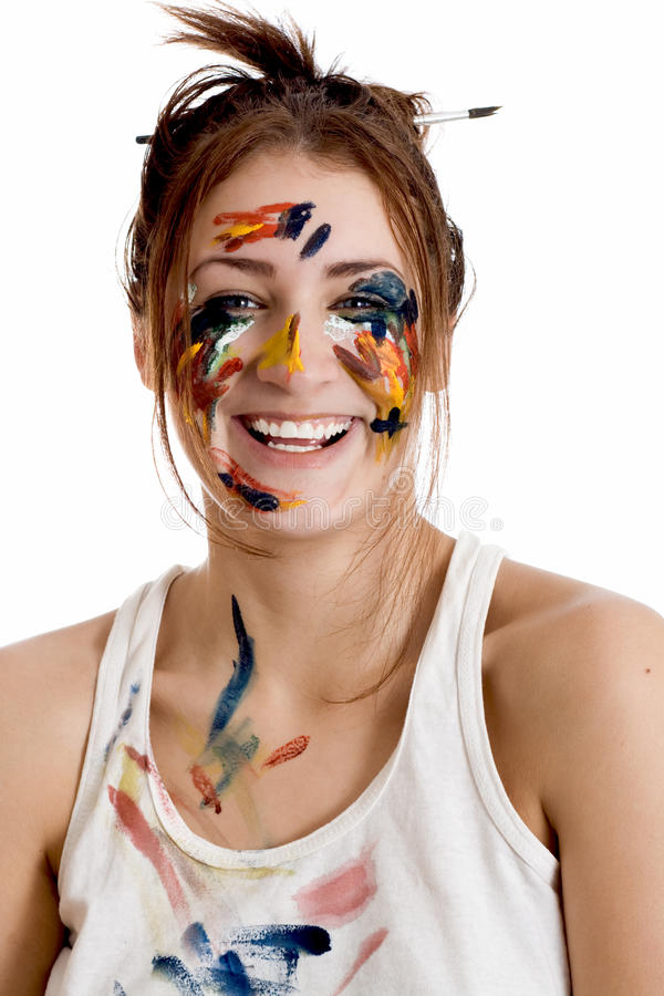 Portrait of a woman artist royalty free stock images