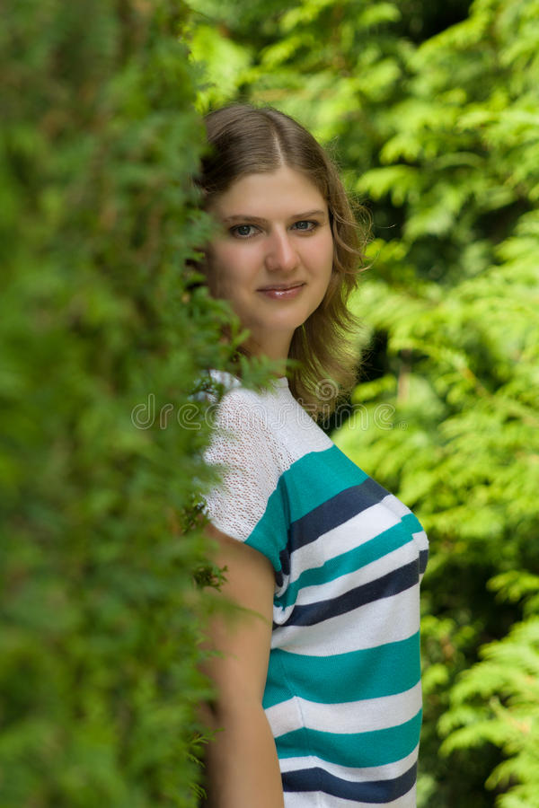 Download Portrait of a woman. stock image. Image of park, smile - 34502599