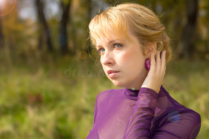 Portrait of woman royalty free stock image