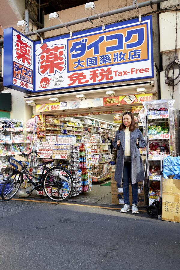 Portrait woman of a beautiful tourist stock photo