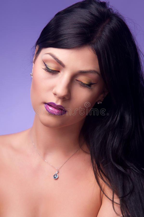 Download Portrait Of A Woman Brunettes Stock Photo - Image: 31357566