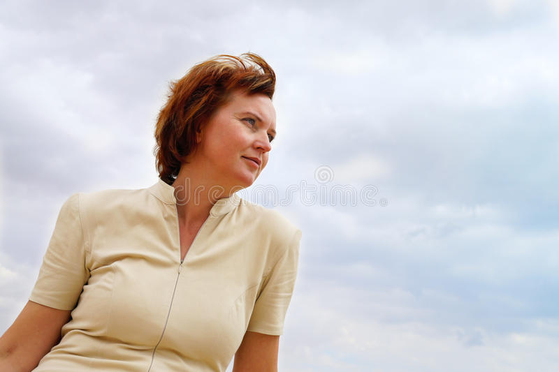 Download Portrait Of A Woman In The Clouds Stock Image - Image: 19995755
