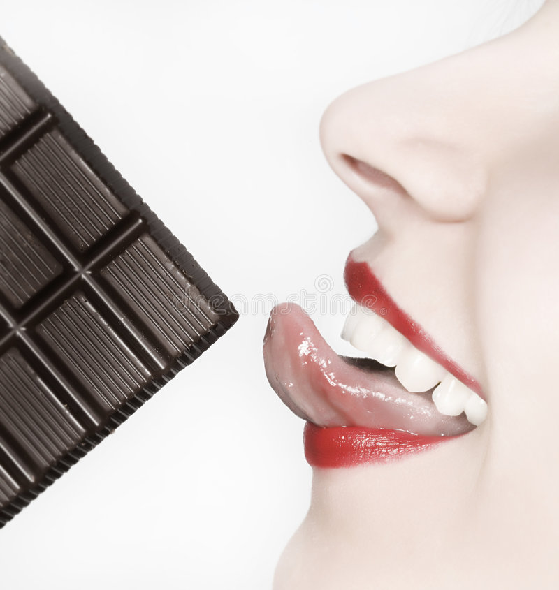 Download Portrait of a woman eating stock photo. Image of sweet - 5483578