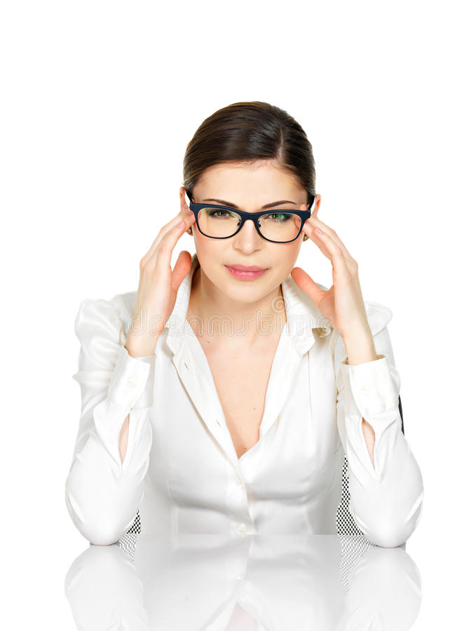 Download Portrait Of A Young Woman In Glasses With Headache Royalty Free Stock Photo - Image: 30197645
