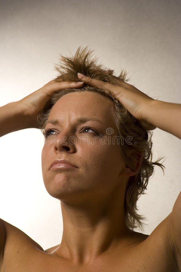 Download Portrait Of A Woman Looking Mad Royalty Free Stock Photo - Image: 11418385
