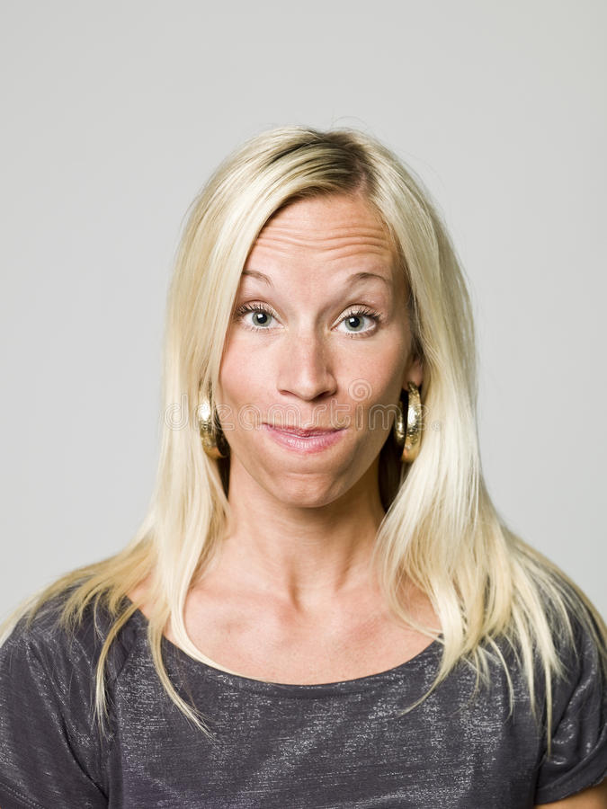 Download Portrait Of A Woman Making A Funny Face Stock Image - Image: 10873501