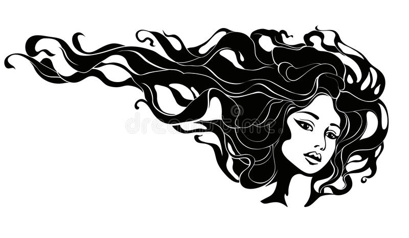 Portrait of a woman royalty free illustration