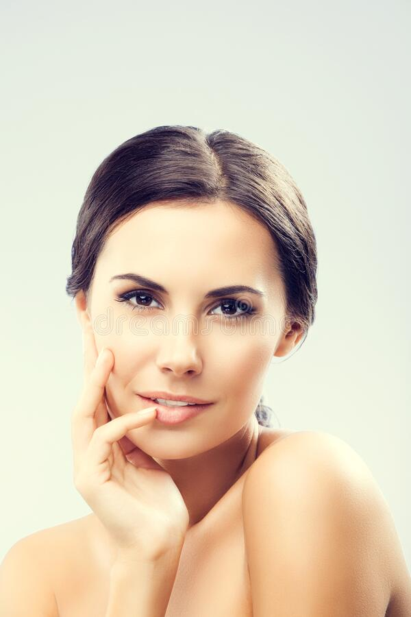 Portrait Of Woman With Naked Shoulders Stock Image - Image