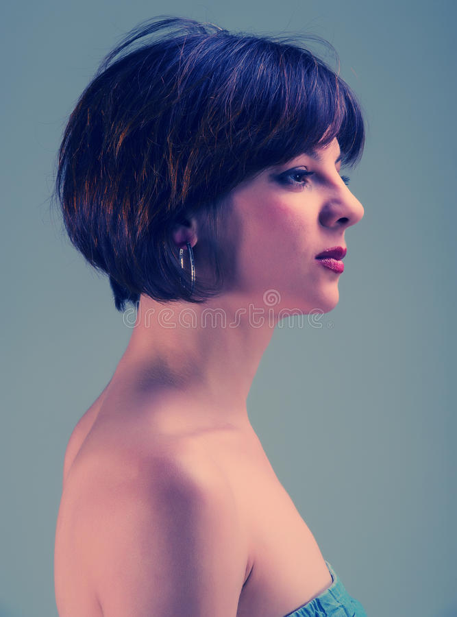 Portrait woman royalty free stock photography