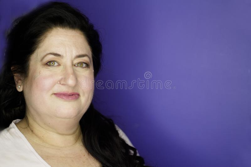 Portrait of woman with princess style hairstyle royalty free stock photo