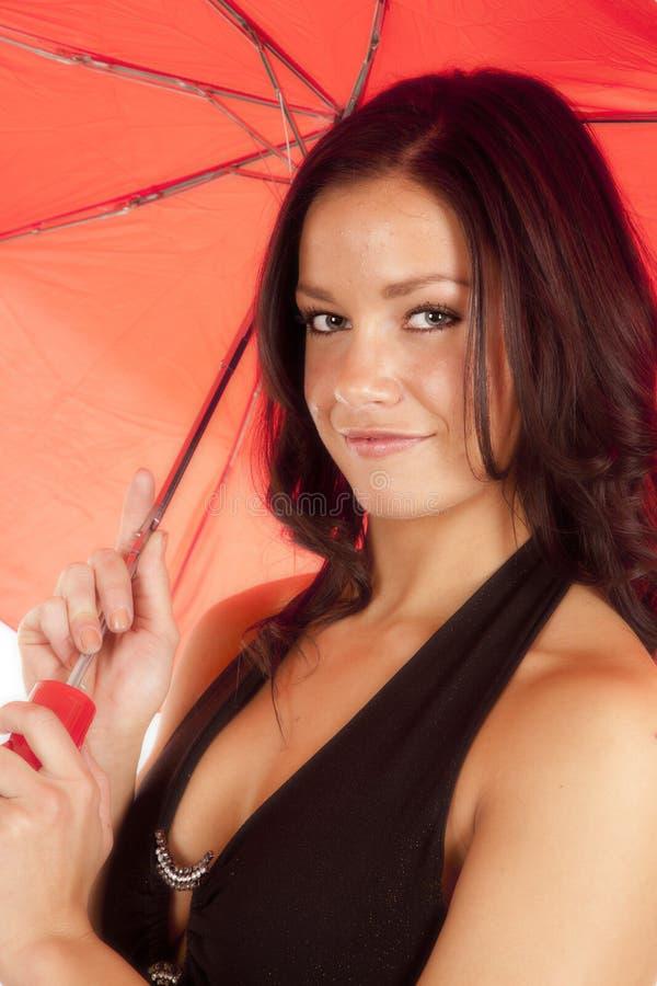 Download Portrait Woman Red Umbrella Stock Image - Image: 18614365