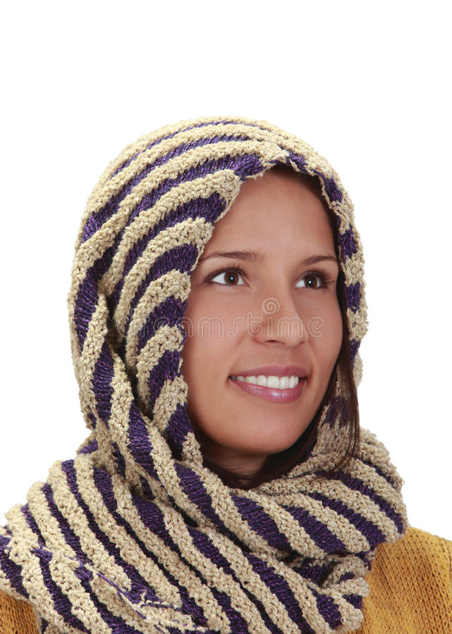 Download Portrait Of A Woman With A Scarf Stock Image - Image: 11973173