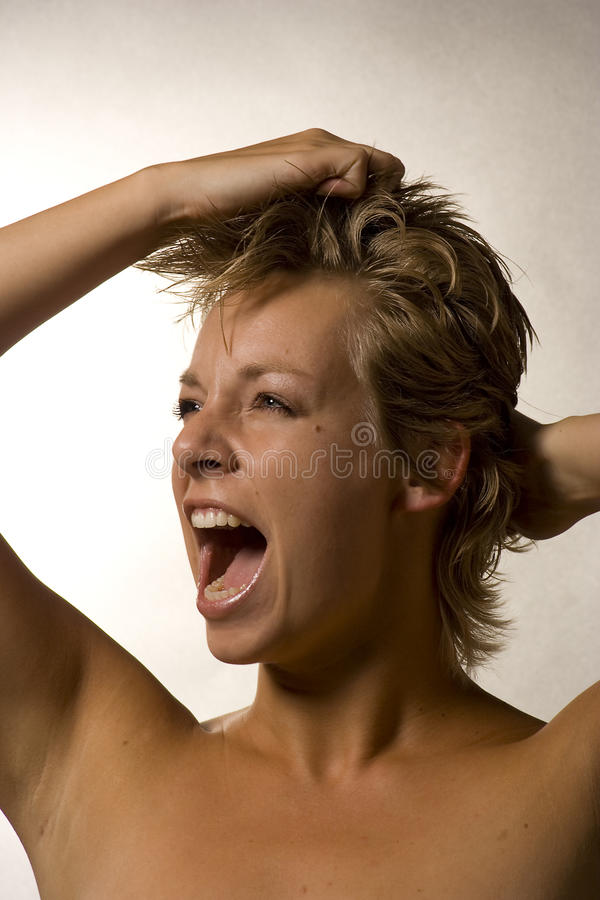 Download Portrait Of A Woman Screaming Stock Photo - Image: 11418376