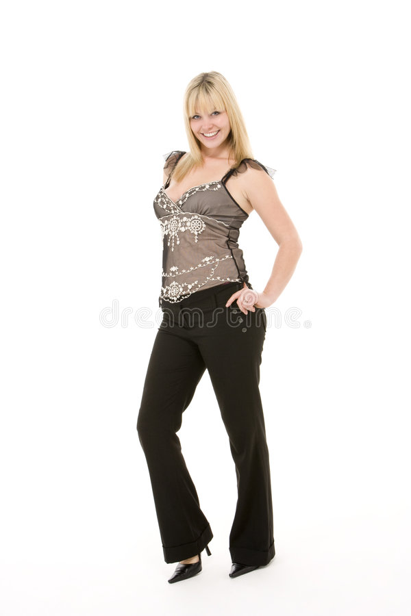 Portrait Of Woman Smiling royalty free stock image