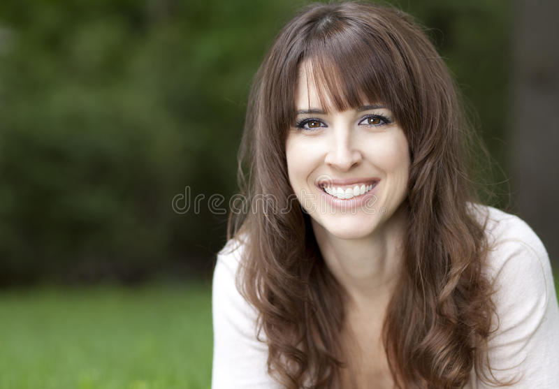 Download Portrait Of A Woman Smiling At The Camera Stock Image - Image: 36728997