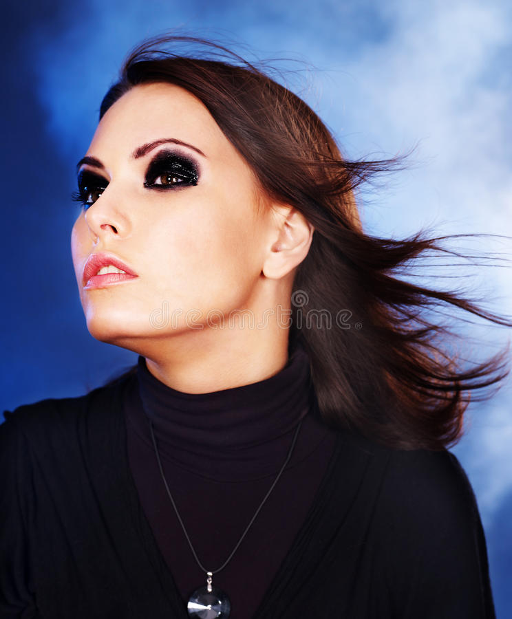 Download Portrait Woman With Smoky Eyes . Stock Photo - Image: 34068582