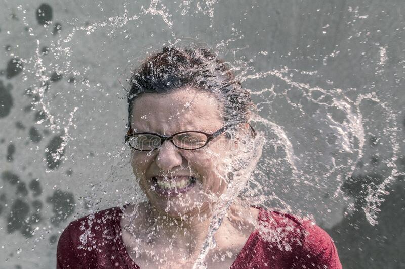 Portrait Of Woman Splashed With Water Free Public Domain Cc0 Image