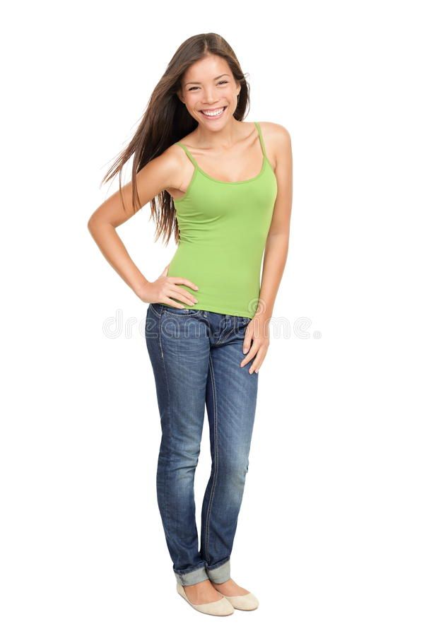 Download Portrait of woman standing stock image. Image of full - 18898067