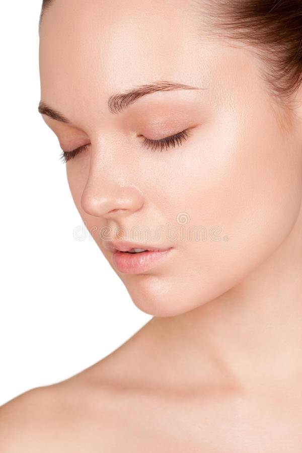 Download Portrait Of A Woman  With Their Eyes Closed Stock Image - Image: 28225751