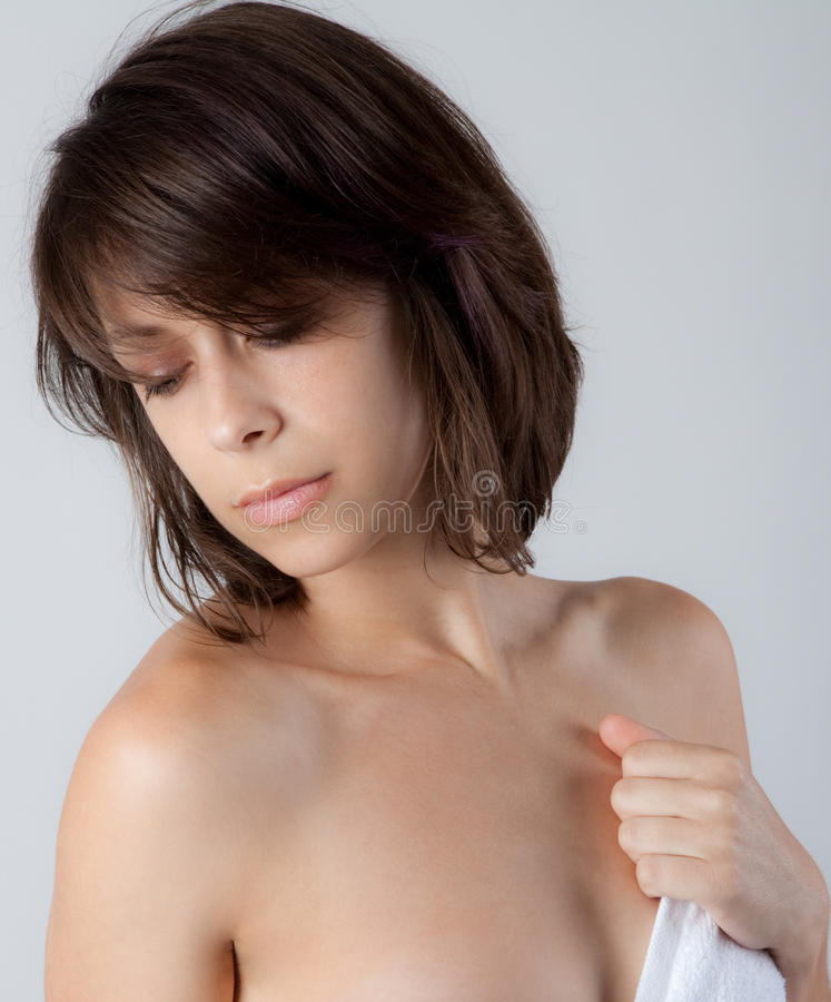 Download Portrait Of Woman With Towel Royalty Free Stock Images - Image: 36561529