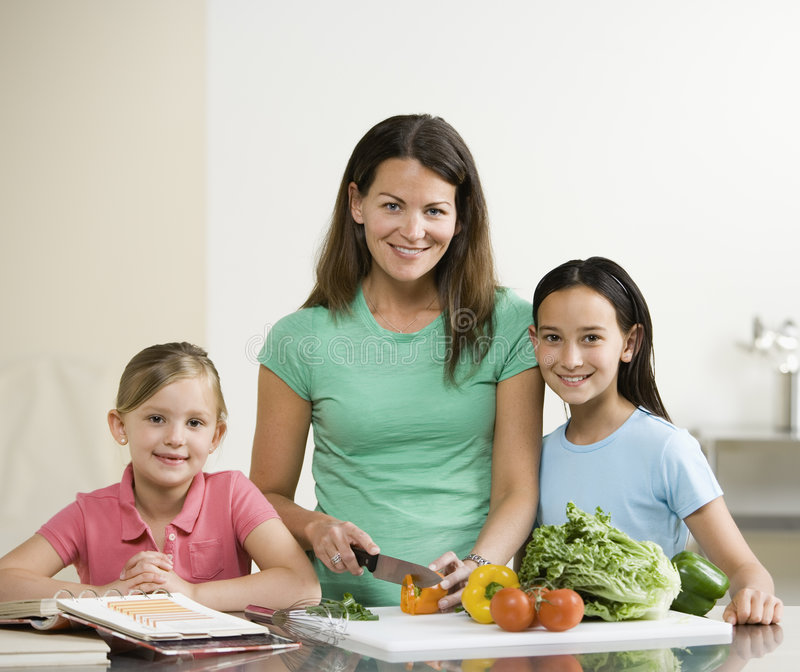 Download Portrait Of Woman And Two Girl Stock Photo - Image: 3523520
