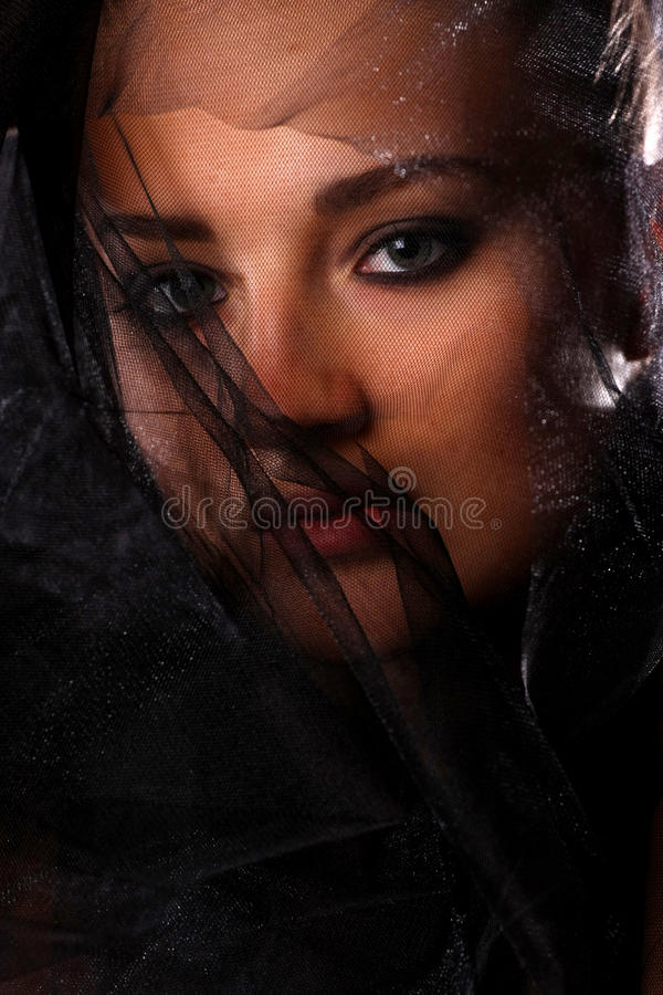 Portrait Of Woman In Veil Stock Image