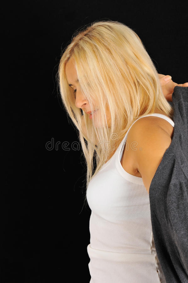 Download Portrait Of Woman Wearing A Dress. Stock Image - Image: 21774931