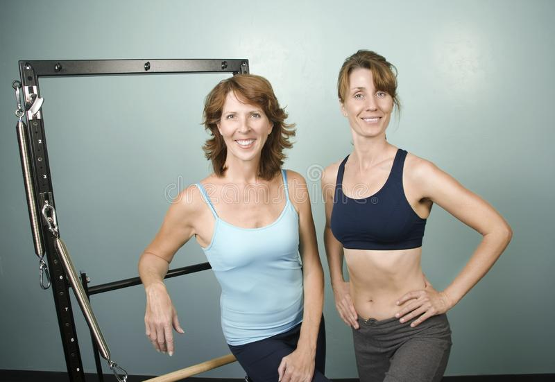 Portrait of Women in a Gym stock photo