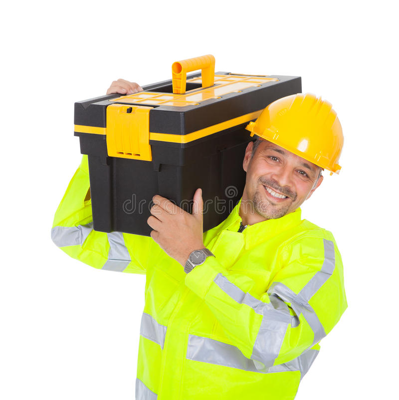 Portrait Of Worker Wearing Safety Jacket Royalty Free Stock Image