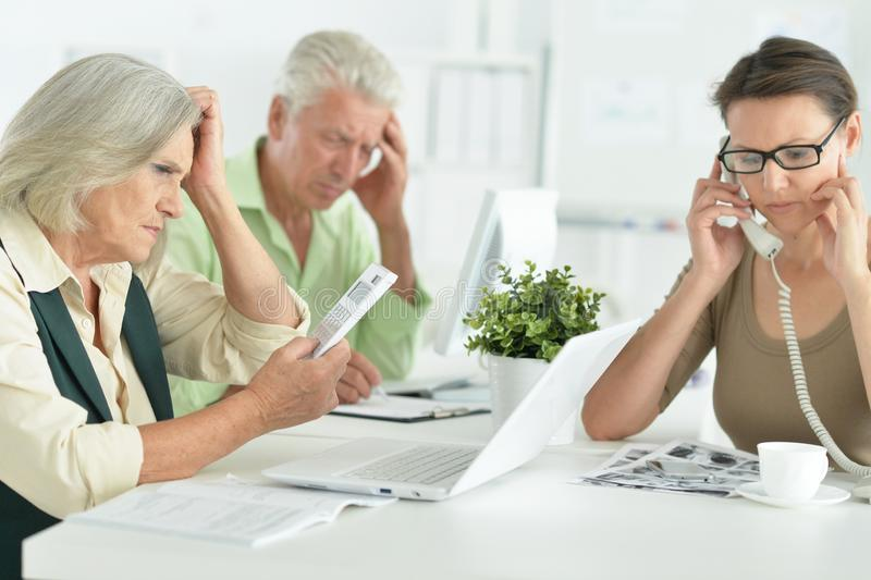 Portrait of working business people In Office stock photography