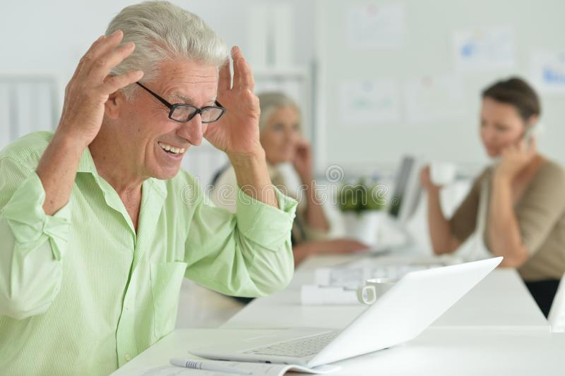 Portrait of working business people In Office stock image