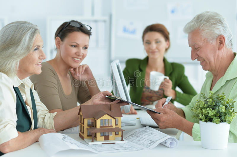 Portrait Of working house agent stock images