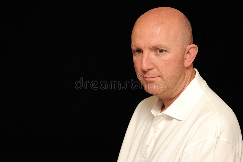 Portrait of worried man stock images