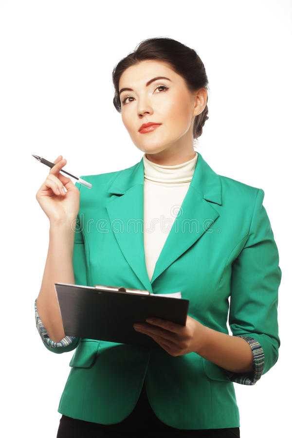 Download Portrait Of Writing Businesswoman Stock Image - Image: 32525381