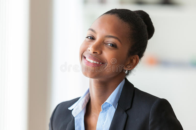 Portrait of a young African American business woman - Black people stock photos