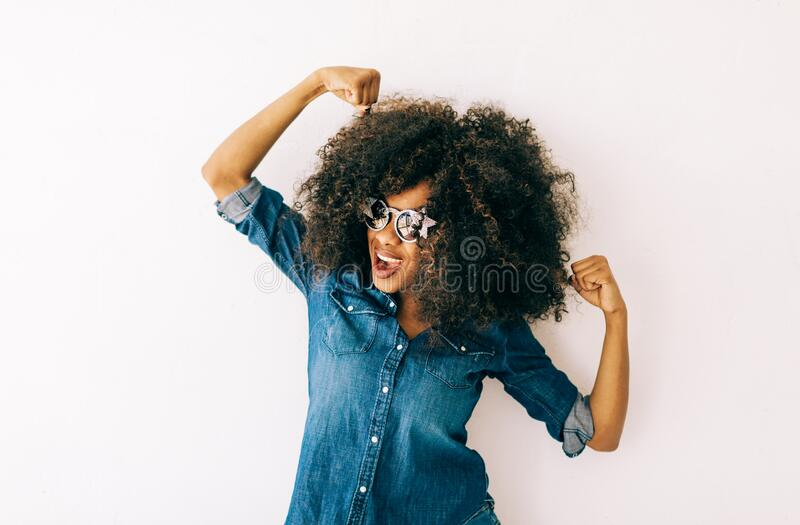 Portrait of young african american woman stock photography